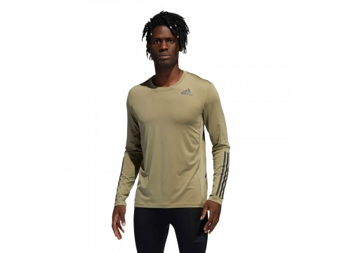 Long Sleeve adidas Performance Techfit 3-Stripes Fitted Men H08804