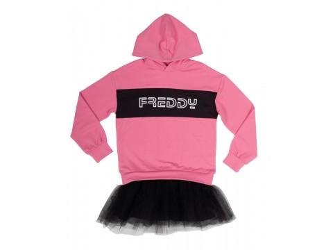 Freddy sweatshirt dress with tulle insert Girl FR0323-017