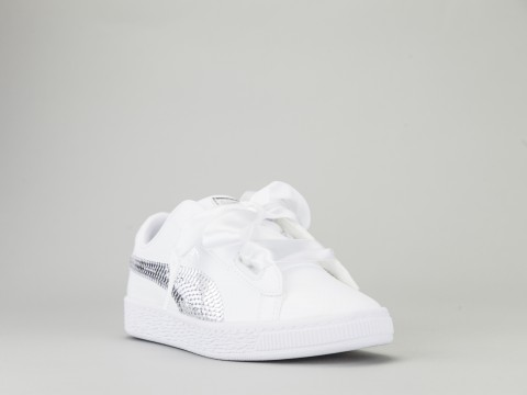 0cf06ae9d7 PUMA BASKET HEART BLING PS Bambina 366848-02