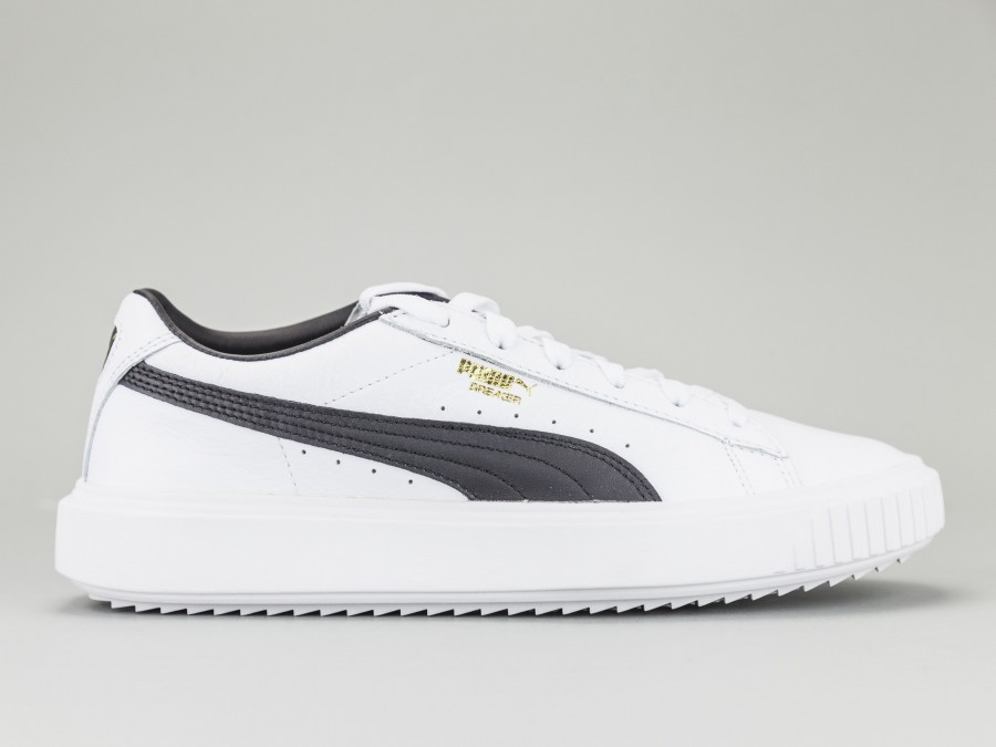 meilleur authentique deffc 00b90 PUMA BREAKER LEATHER Man 366078-02 Color WHITE Puma Size Shoes 40.5