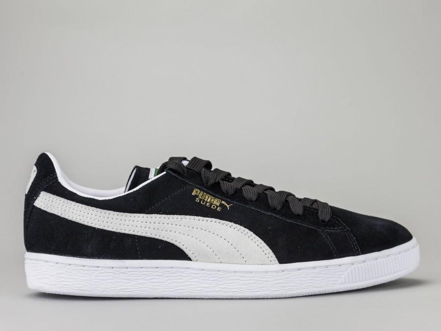separation shoes 49f59 b3cc9 PUMA SUEDE CLASSIC Men's 352634-03 Color BLACK Puma Size Shoes 46