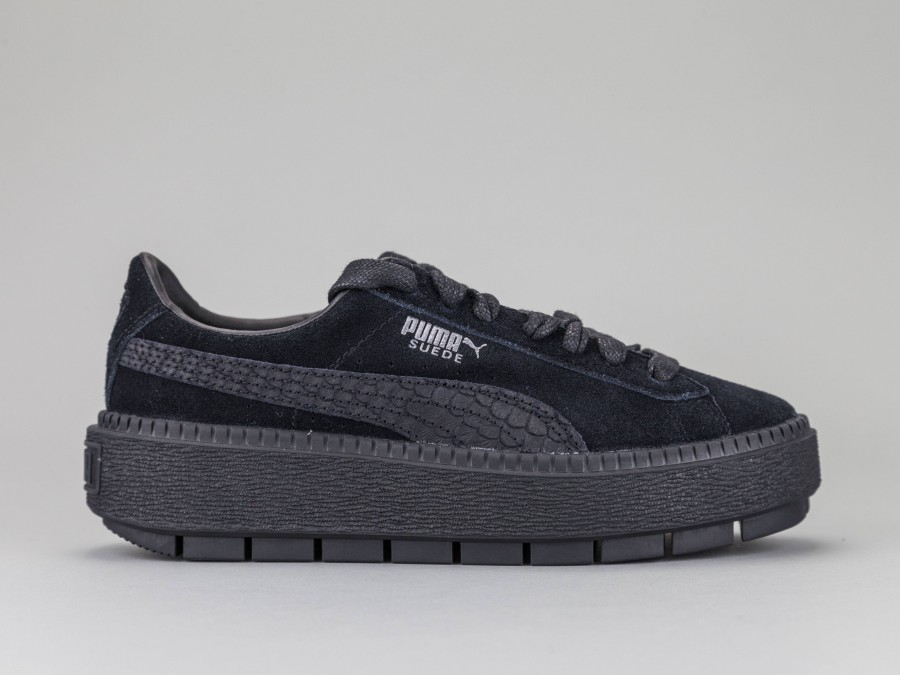 premium selection 459f3 4aab5 PUMA SUEDE PLATFORM TRACE ANIMAL Woman 367814-01 Color BLACK Puma Size  Shoes Thirty six