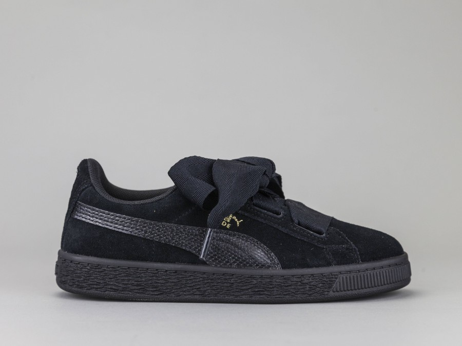 competitive price 0b1c1 a54b2 PUMA SUEDE HEART Girl 364919-06 Color BLACK Puma Size Shoes 29