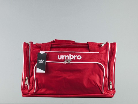 UMBRO HOLDALL FOOTBALL P-BAG-JR-RED