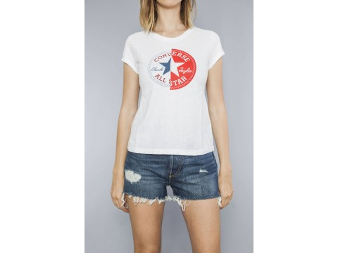 CONVERSE T-SHIRT SS CREW SLIM CUCK PATCH Woman 10017538-A03