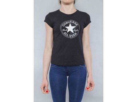 CONVERSE T-SHIRT SS CREW SLIM CUCK PATCH Woman 10017538-A05