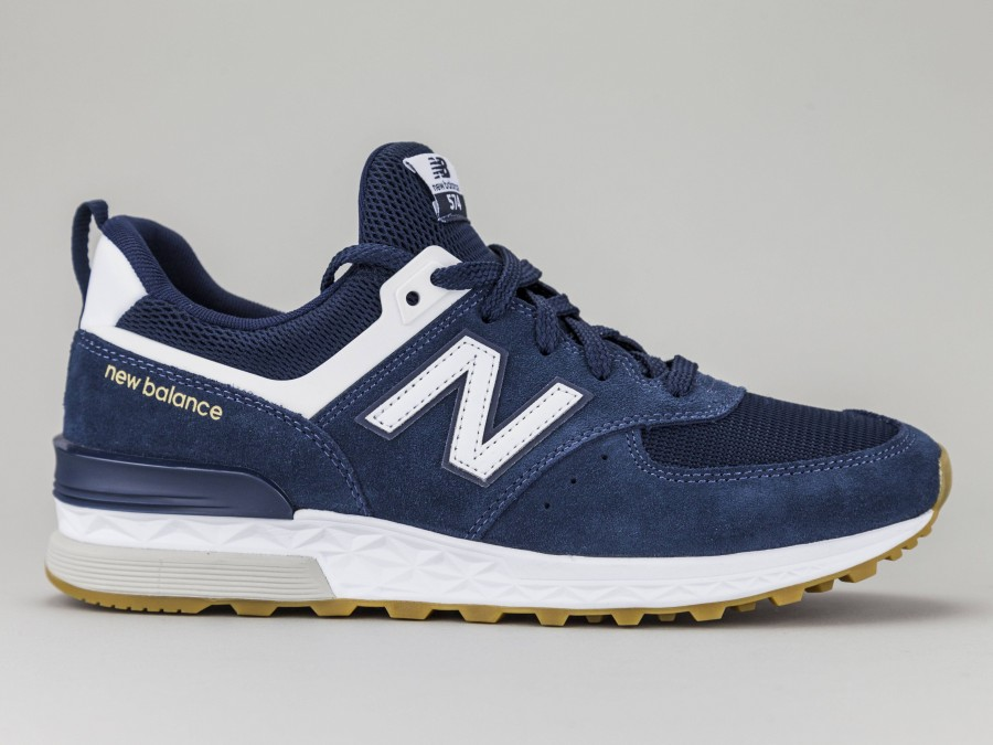 the latest 68974 31e35 NEW BALANCE 574 Sports Man MS574FCN Color BLUE New Balance Size Shoes 42.5