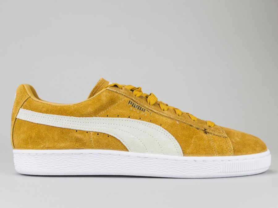 new arrival 0cdc9 10c82 PUMA SUEDE CLASSIC Men's 363242-23 Color YELLOW OCHRE Puma Size Shoes 41