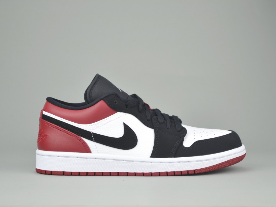 reputable site 51688 a025f NIKE JORDAN 1 LOW mens 553558-116 Nike Size Shoes 44.5 Color WHITE-BLACK-RED