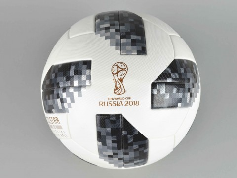 Pallone calcio mondiali 2018 adidas Performance TELSTAR18 bianco e nero