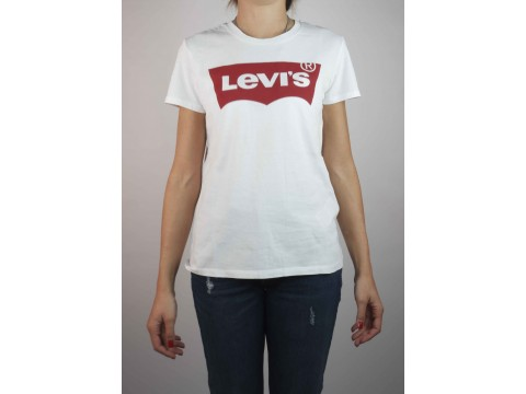 LEVI'S WHITE SHIRT WITH TRADITIONAL LOGO Women's 17369-0053