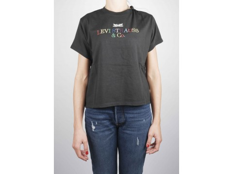 LEVI'S SHIRT BLACK WITH LOGO COLORED Woman 69973-0056