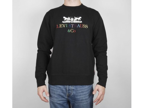 LEVI S HOODIE WHITE WITH COLORFUL LOGO Man 17895-0083