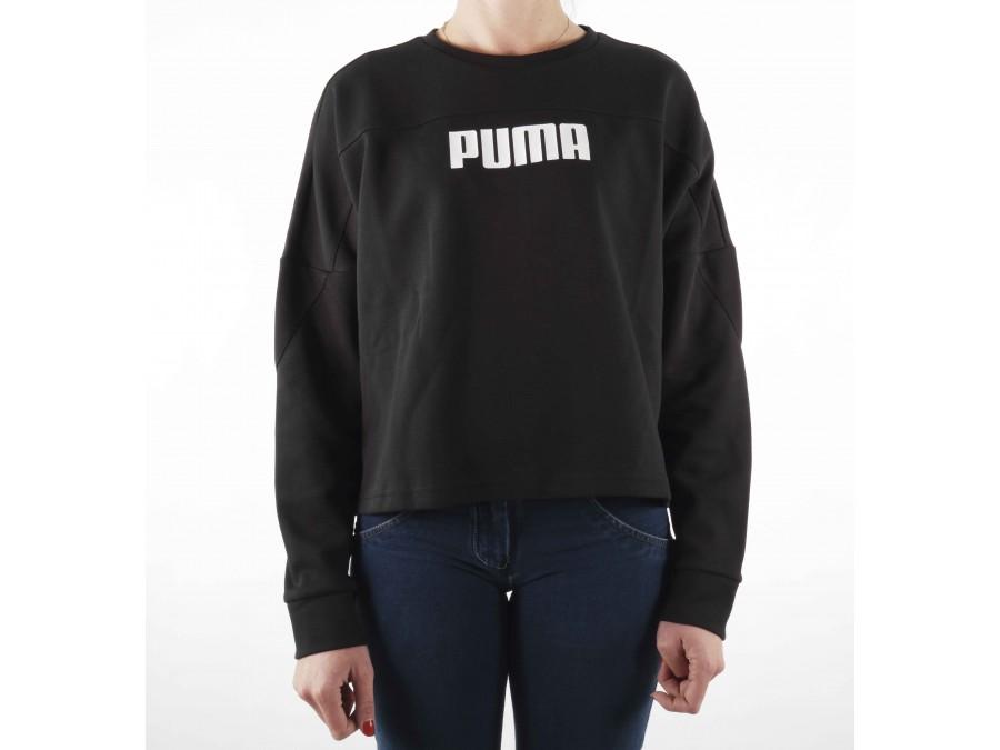Puma Felpa da Donna, Colore: Nero, Taglia: XS (Taglia del