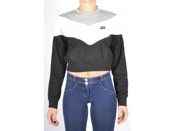 crop top felpa nike