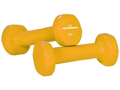 Gimer Fitness Pair of Vinyl dumbbells of KG 1,5
