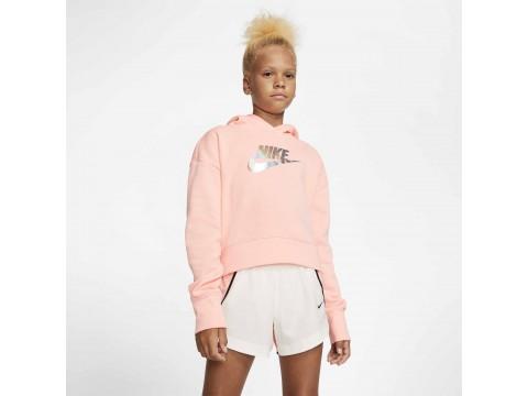 Nike Spotswear Felpa  CROP BLEACHED Ragazza CQ4225-697