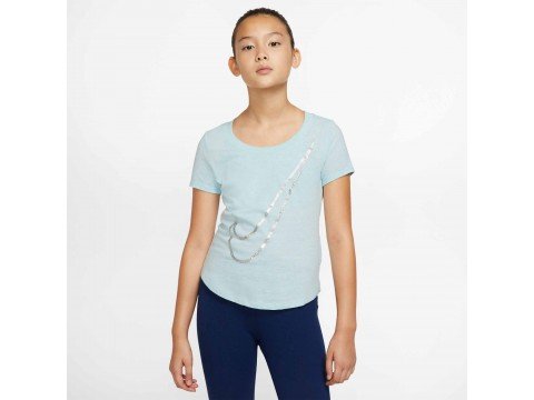 Nike Sportswear T-shirt SCOOP SHINE SWOOSH Girl CN2326-336