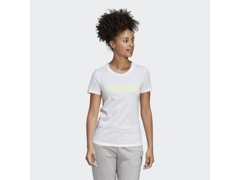 T-Shirt adidas Performance Essentials Linear Bianco Donna GD2929