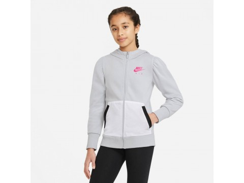 Nike Sportswear Felpa Air con Cappuccio Bambina/Ragazza DA1179-077