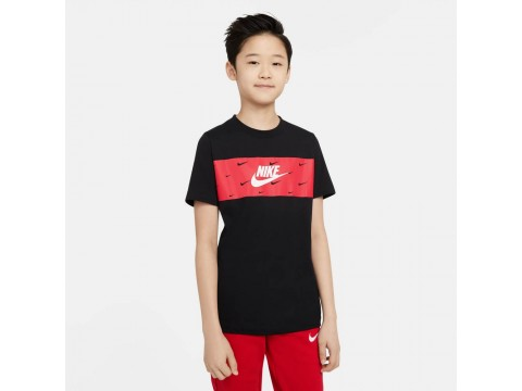 Nike Sportswear T-Shirt Panel Bambino DC7524-010